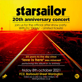 Starsailor 20th Anniversary Concert - Official Afterparty