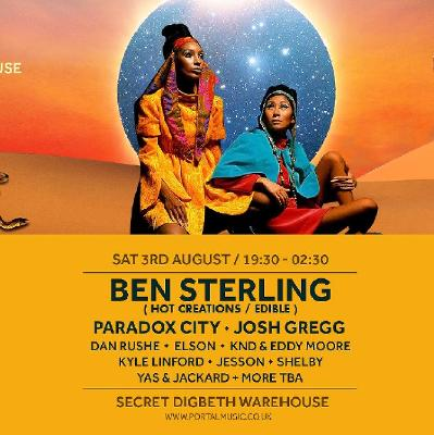 Portal presents Ben Sterling 3rd August