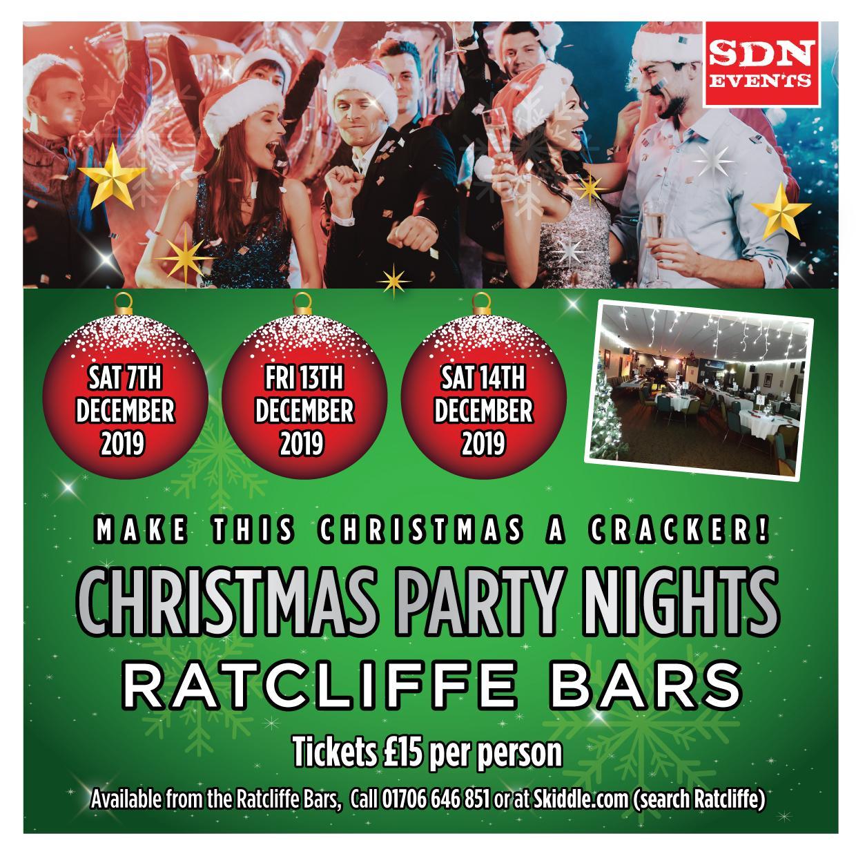 Christmas Party 2019 Logo.Christmas Party Night 2019 At Ratcliffe Bars