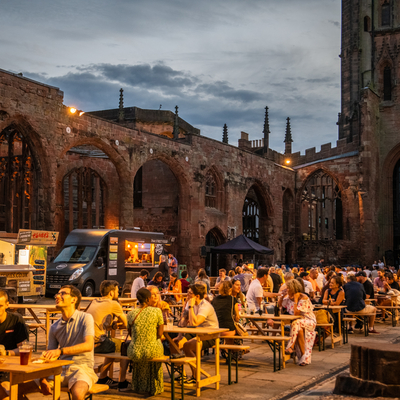 Digbeth Dining Club returns to Coventry, this time taking over the Cathedral square.