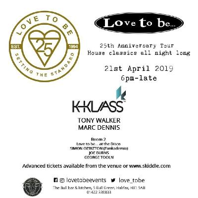Love to Be presents 25 Years of House Classics With K-Klass