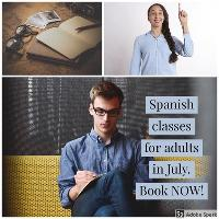 Spanish classes for adults in July