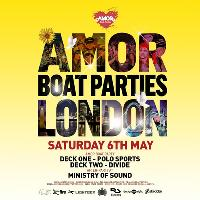 Amor Boat party Saturday Sessions followed by Ministry of Sound