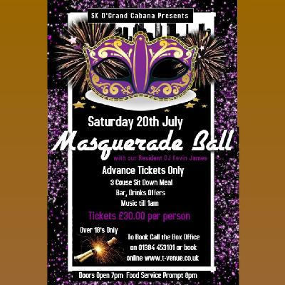 Masquerade Ball Tickets | SK D'Grand Cabana The Venue Dudley
