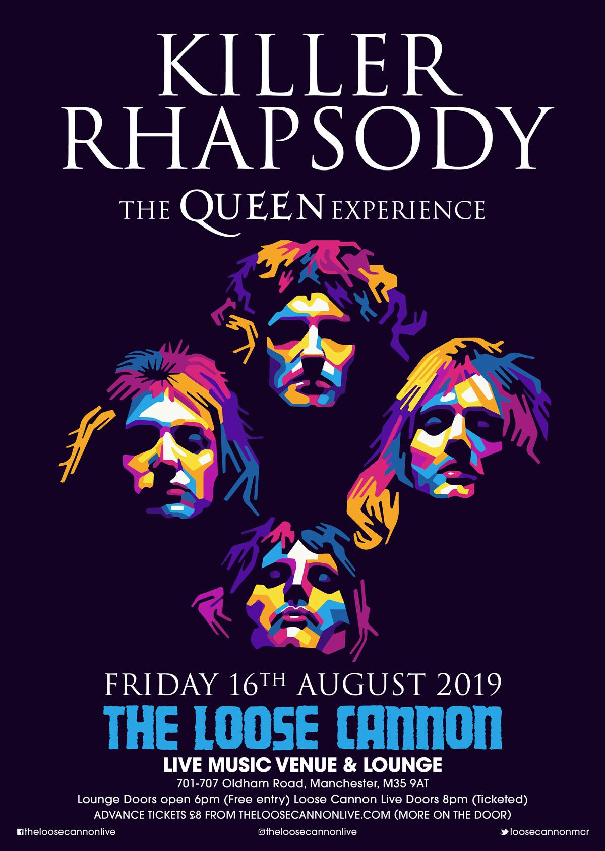 Killer Rhapsody -The Queen Experience at The Loose Cannon