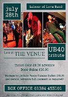 UB40 Tribute Night with Labour of Love Band