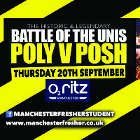 Annual Battle of the Unis at O2 Ritz - UOM vs MMU vs UOS