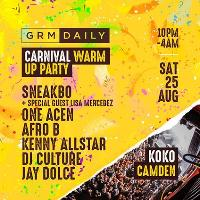 GRM Daily Carnival Warm Up Party w/ Sneakbo, Lisa Mercedez
