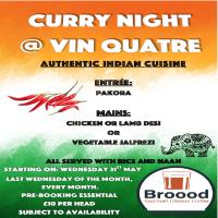 Curry Night at Broood