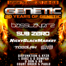 20 Years of Genetic - Basslayerz // SubZero // Nicky Blackmarket
