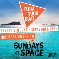 Float Your Boat & Ibiza Spotlight incl entry to Sundays at Space