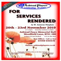 Ashtead Players - For Services Rendered by W. Somerset Maugham