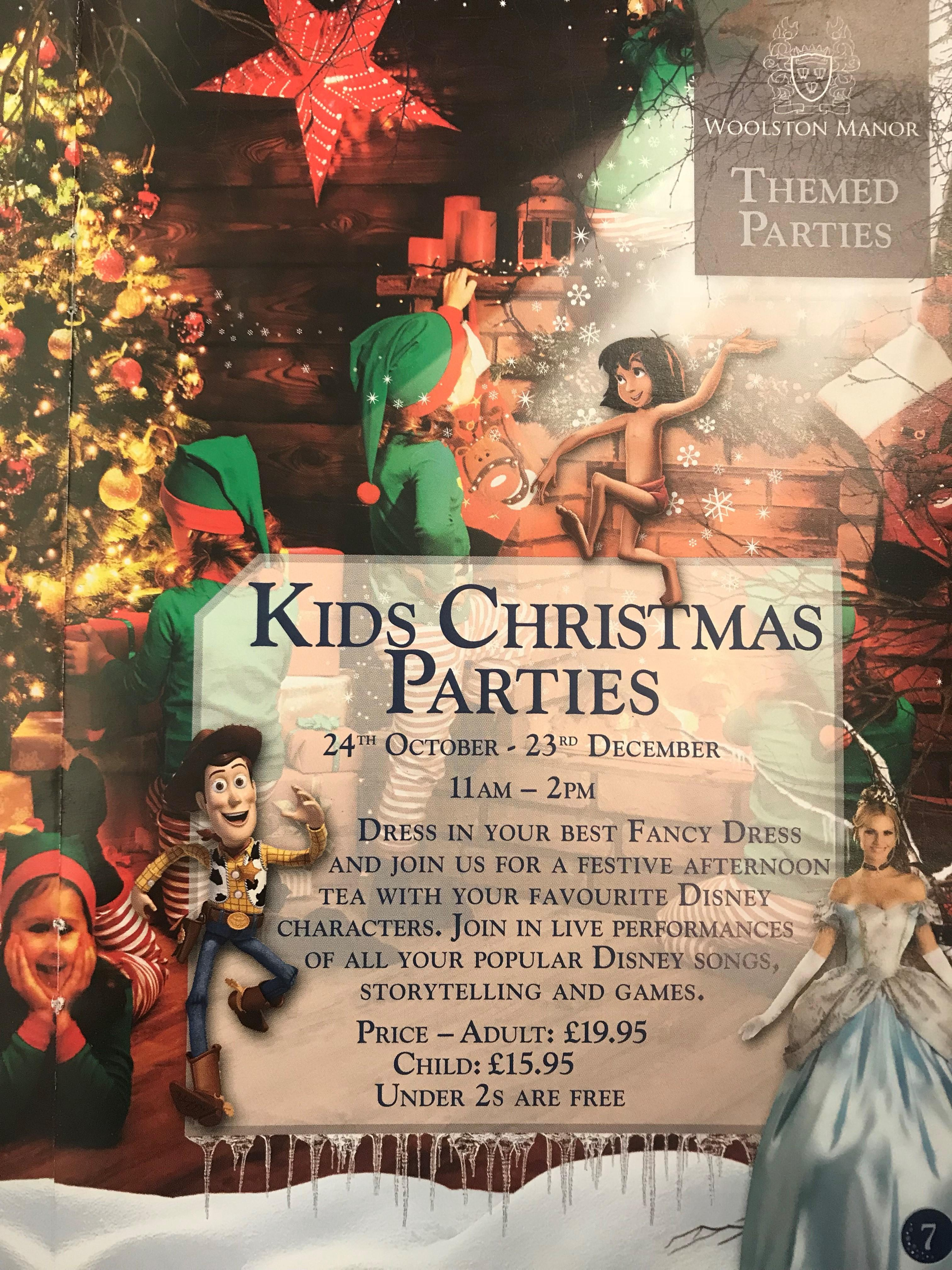 Kids Christmas Parties Tickets | Woolston Manor Golf And Country ...