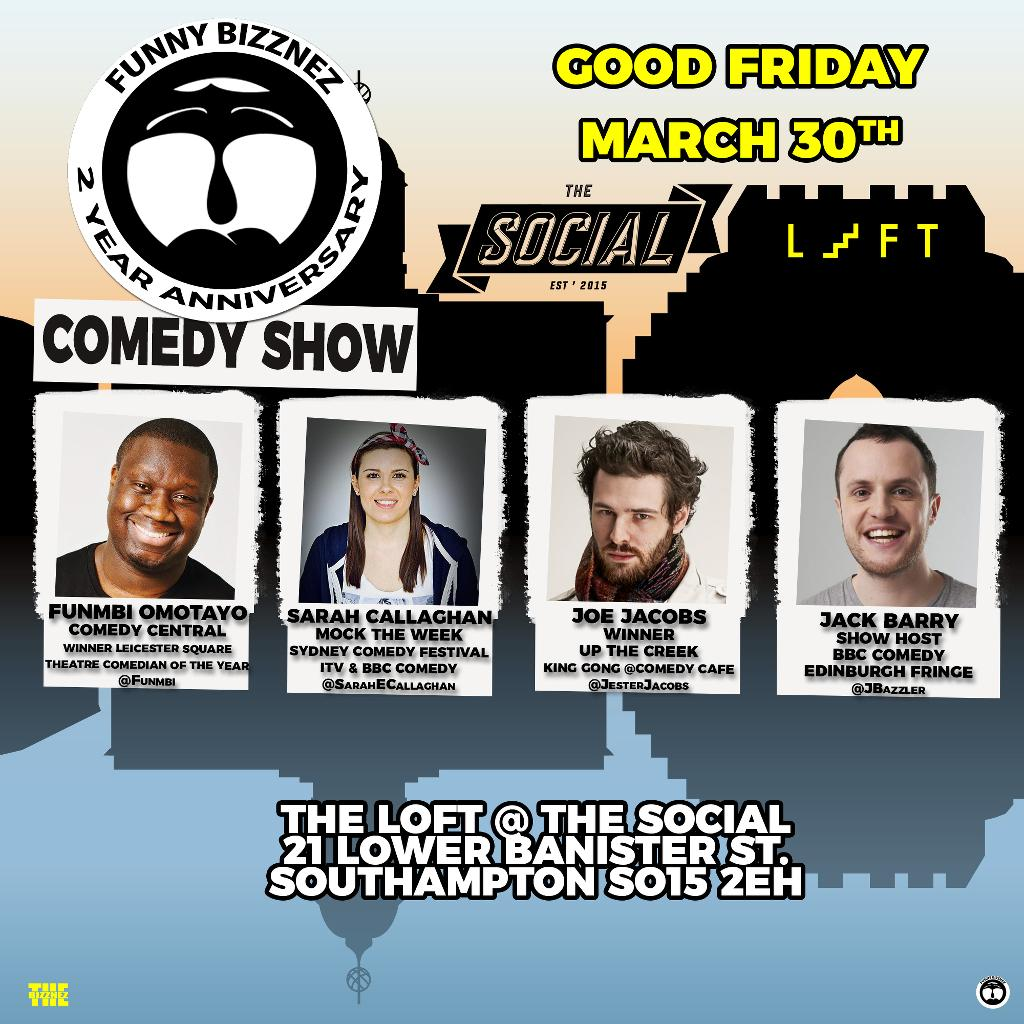 Funny Bizznez Comedy Southampton! Good Friday Easter Special