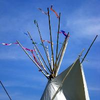 Tipi & Lotus Tent Hire at Green Gathering