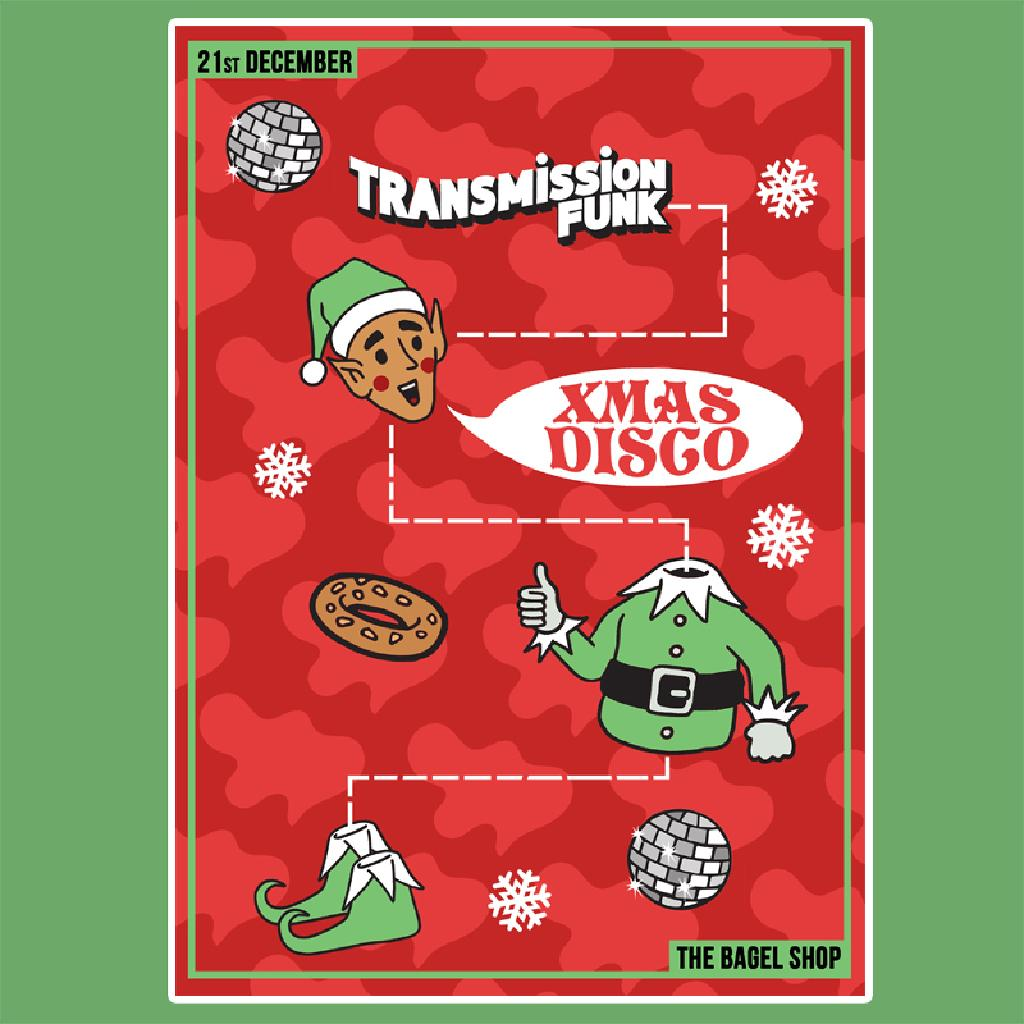 Christmas Disco Clipart.Transmission Funk Christmas Disco In A Bagel Shop Tickets