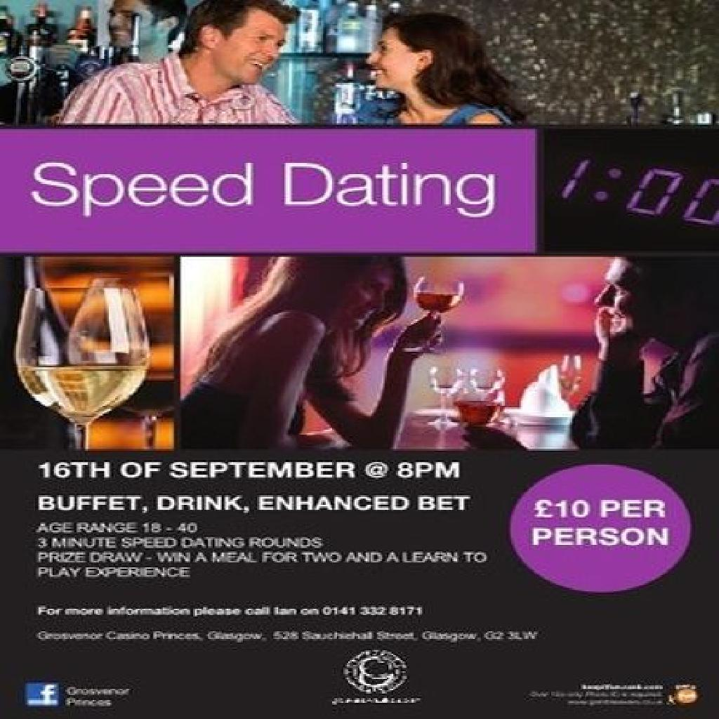 speed dating nights glasgow Welcome to eventsmingle we are based in galway our singles nights and speed dating events will give you peace of mind in meeting people at first hand.