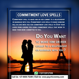 Real Powerful Love Spells That Work Instantly – +27660670249