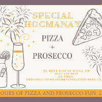 HOGMANAY SPECIAL Pizza & Prosecco Brunch