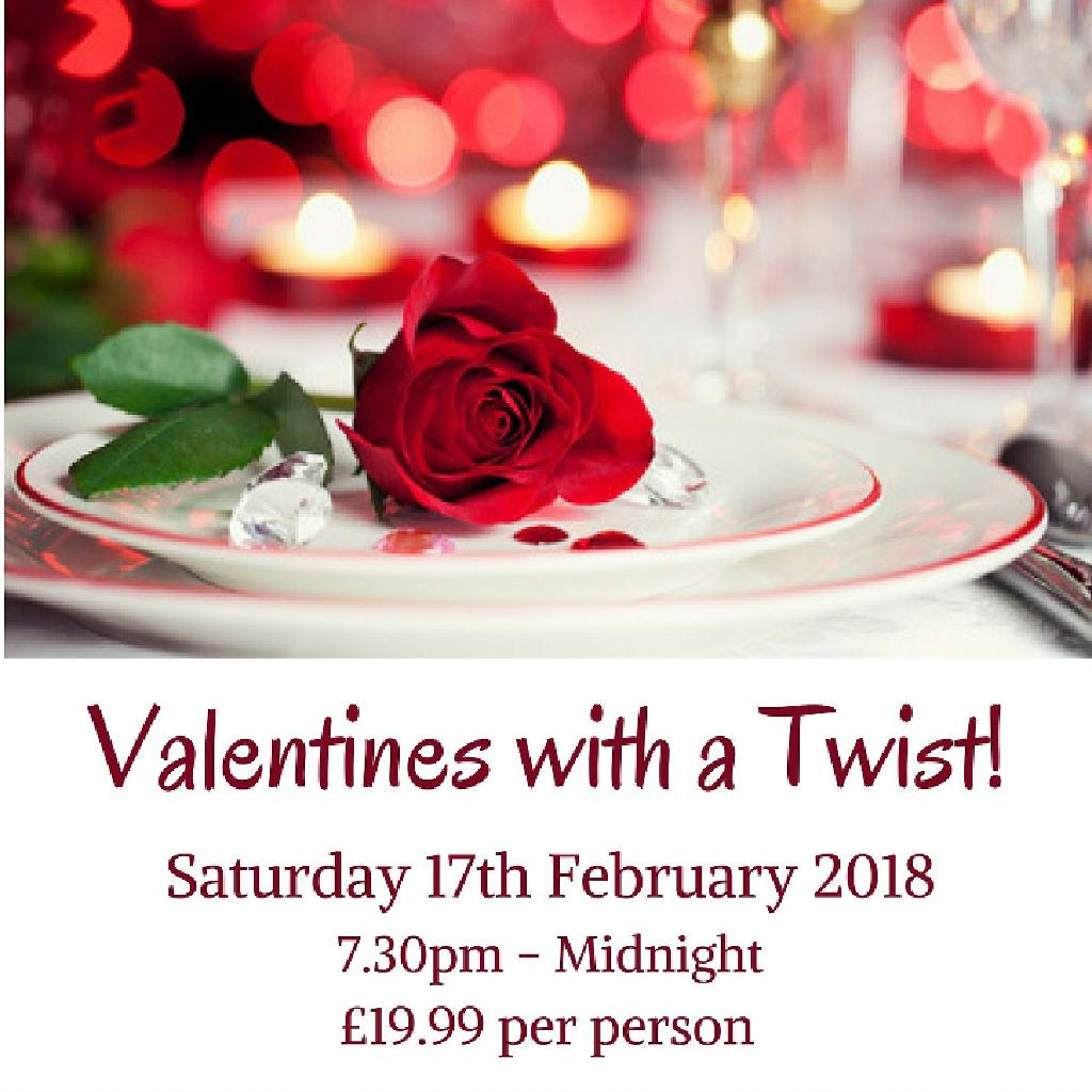 Valentines With A Twist Tickets Cottrell Park Golf Club Cardiff