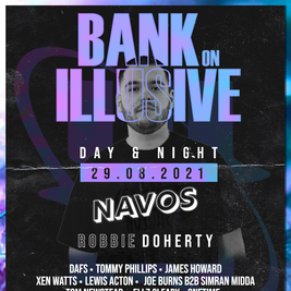 Bank on Illusive with Navos, Robbie Doherty & more