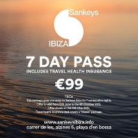 Sankeys Ibiza 7 Day Pass
