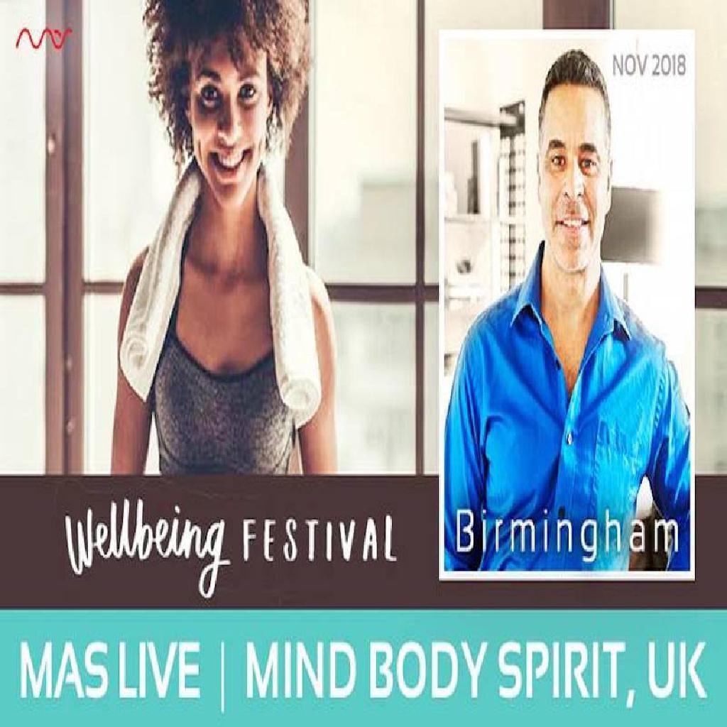 Mas Sajady at the Mind Body Spirit Festival, Birmingham