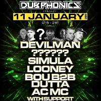 Dubphonics:Devilman/Looney/Simula/?/BouB2bDutta + even more
