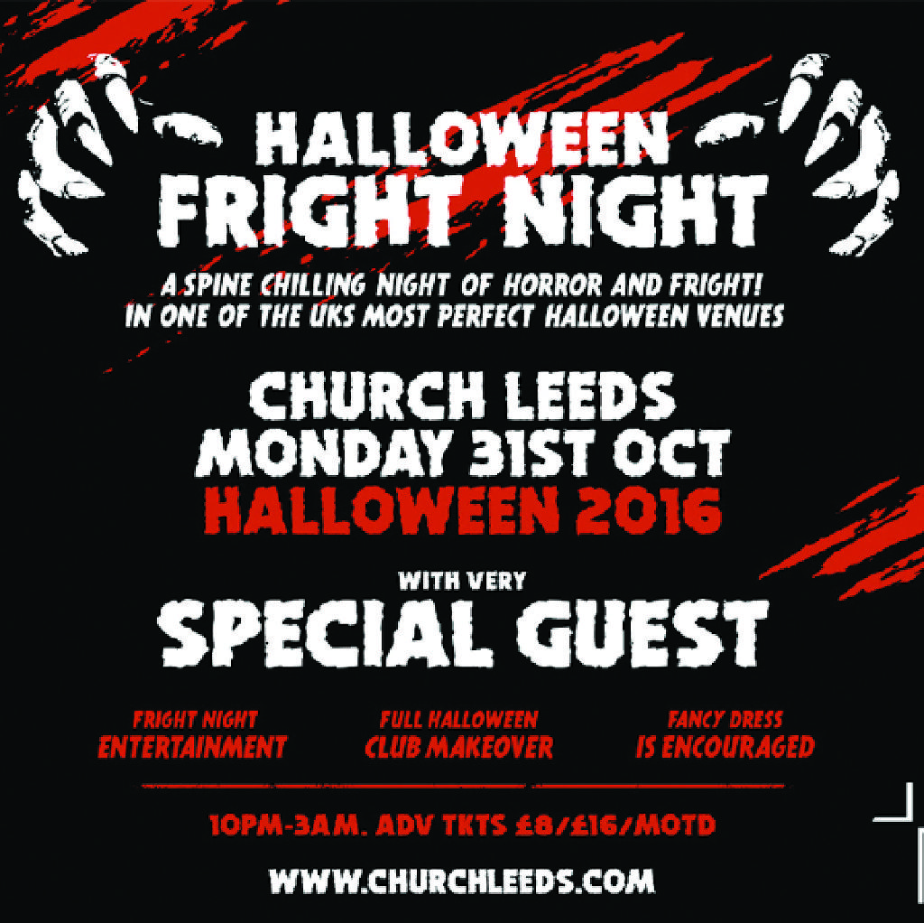 church presents halloween tickets church leeds mon 31st october 2016 lineup - Why Is Halloween On The 31st Of October